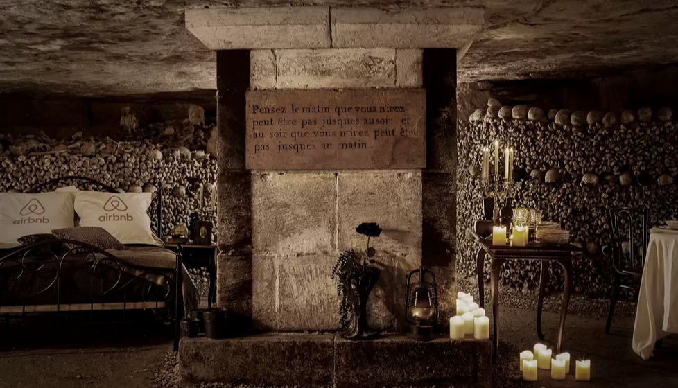 Slumber Party for Two on October 31st in the Catacombs of Paris
