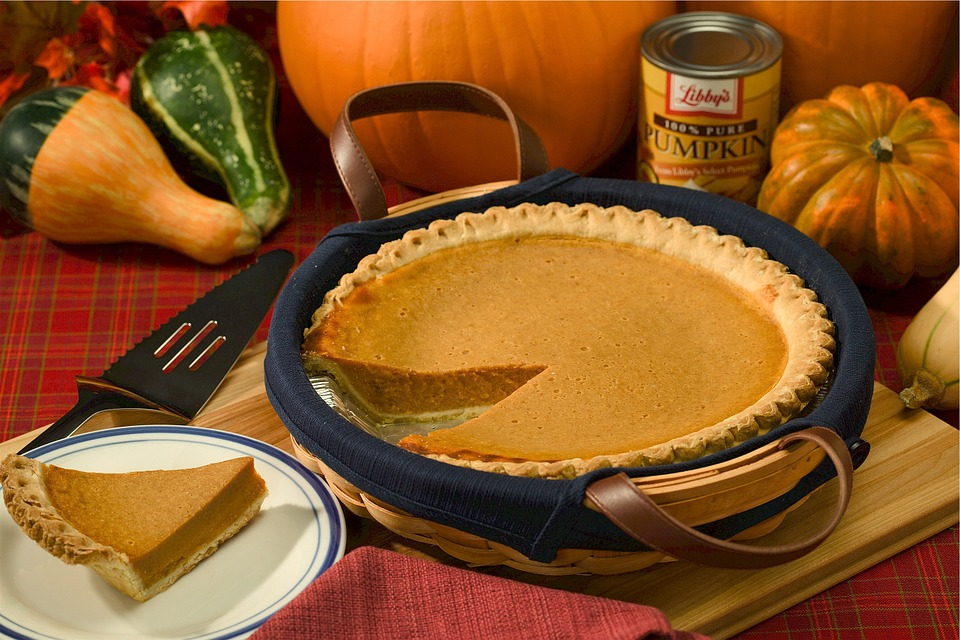 Photo by Skeeze, via Pixabay | https://pixabay.com/en/pumpkin-pie-autumn-holiday-baked-520655/