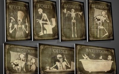 Decorate Your Home with Gothic Style Skeleton Door Signs by Rany Atlan!